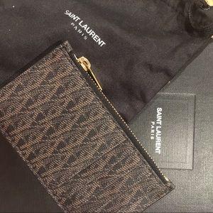 YSL Cardholder - Monogram Paris zipped card case